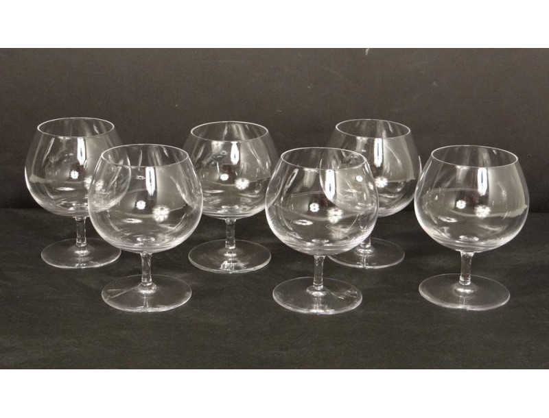 lot 6 verres cognac cristal daum antique french xx me si cle antiquit s du golfe. Black Bedroom Furniture Sets. Home Design Ideas