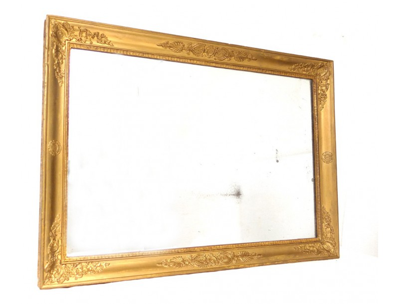 glace miroir mercure bois stuqu empire restauration